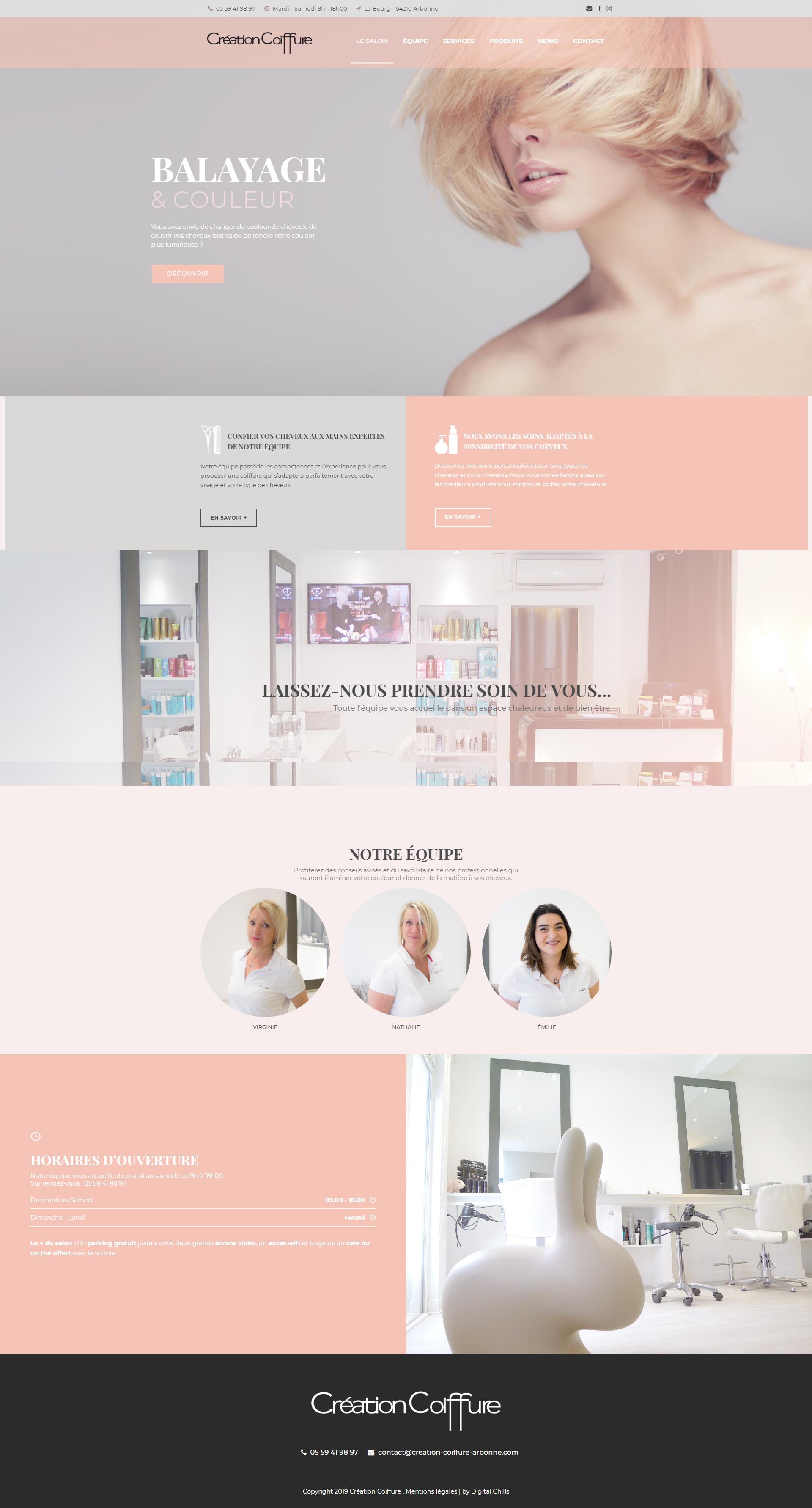 Portfolio Création Coiffure | DIGITAL CHILLS Diseño & Marketing Digital