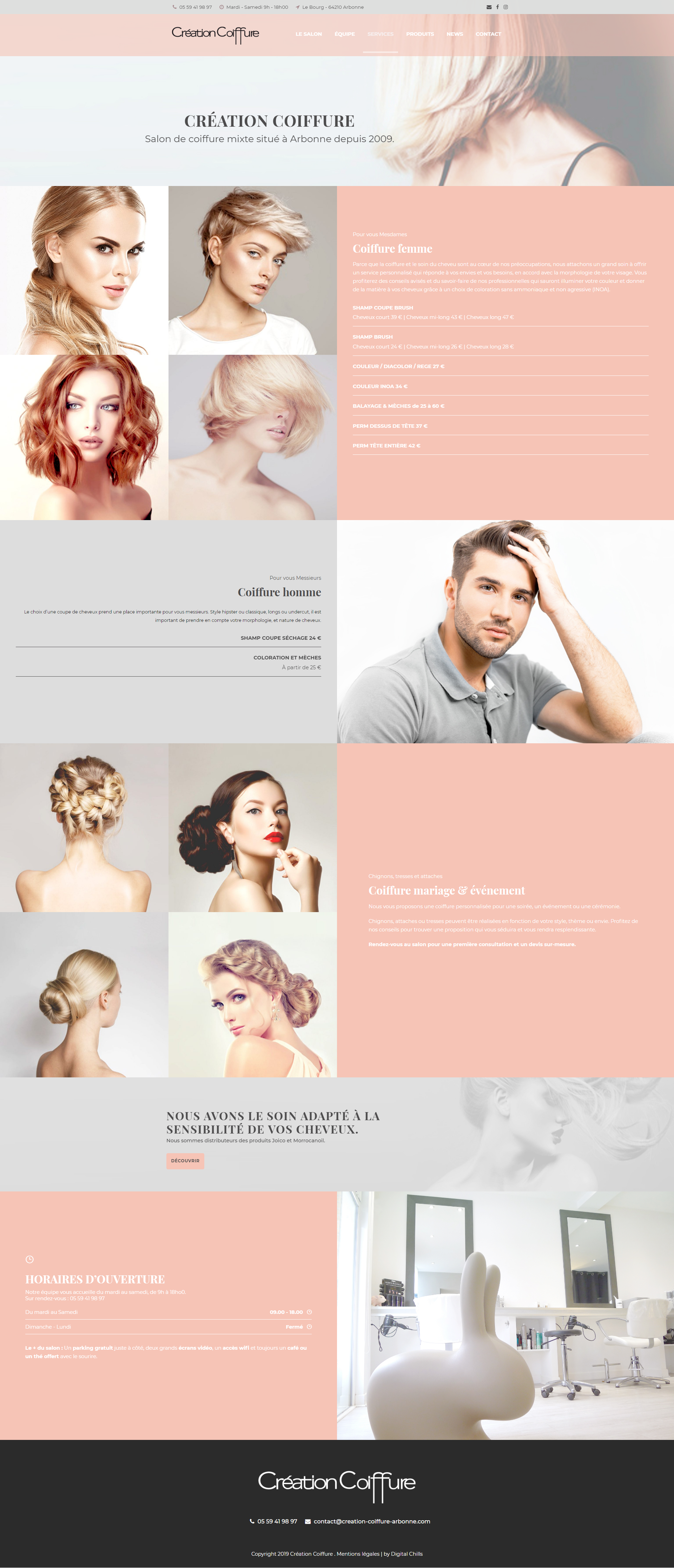 Portfolio Création Coiffure | DIGITAL CHILLS Diseño & Marketing Digital