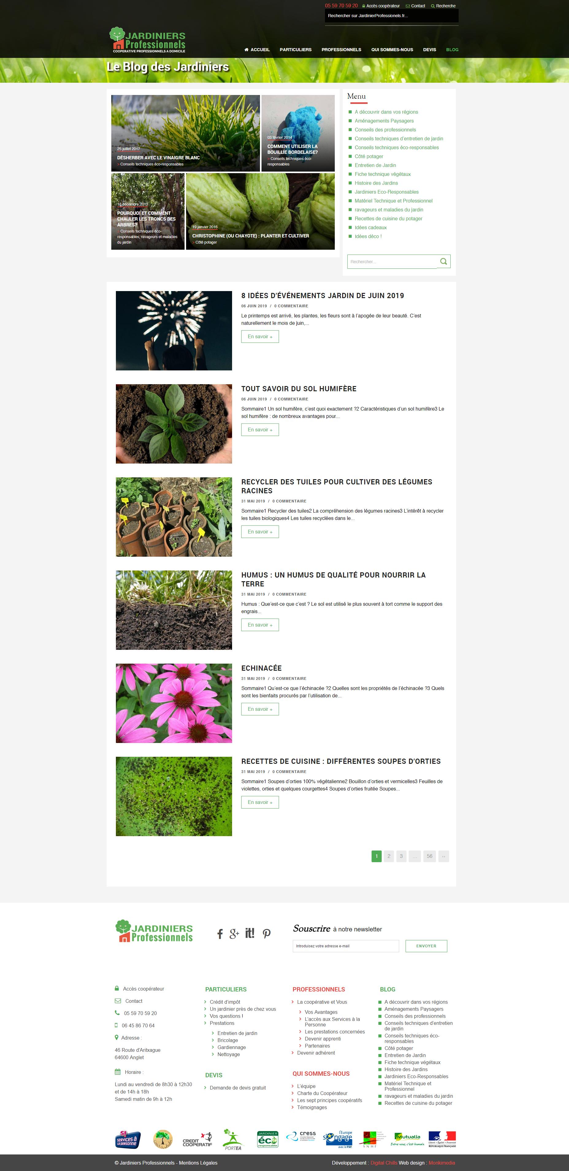 Wesbite Jardiniers Professionnels | DIGITAL CHILLS Diseño & Marketing Digital