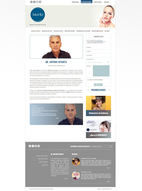 Website Clinica Isturitz   DIGITAL CHILLS Diseño & Marketing Digital