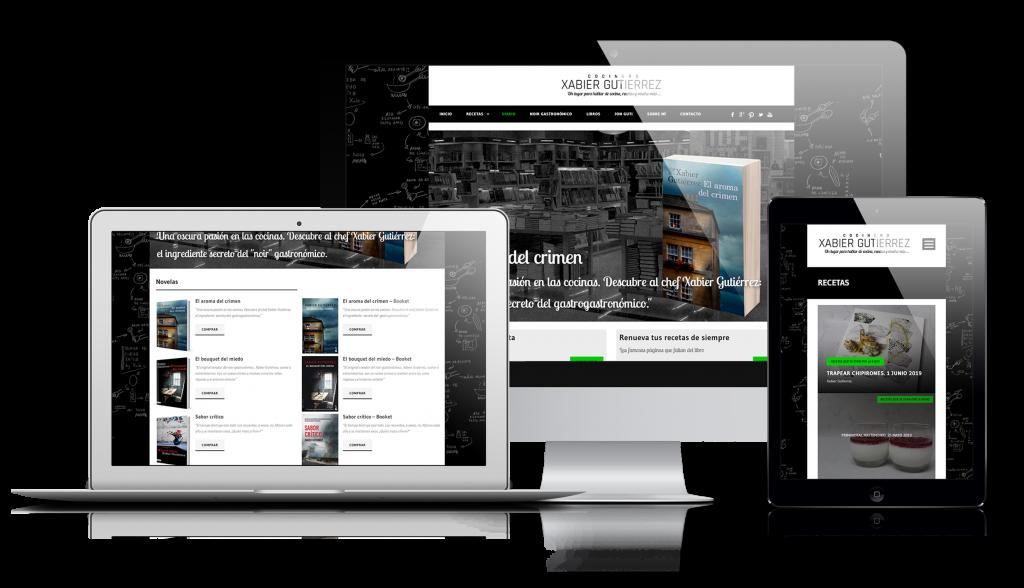 portfolio Xabier Gutierrez Cocinero | DIGITAL CHILLS Diseño & Marketing Digital