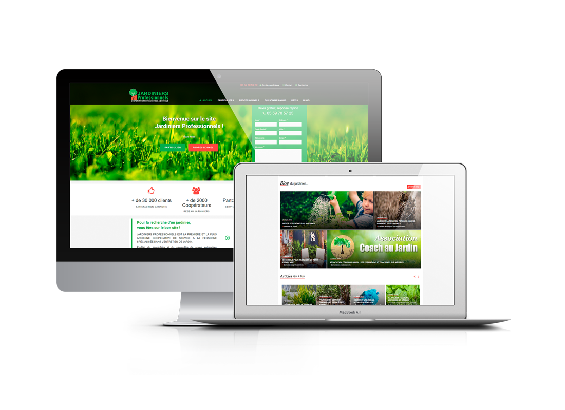 portfolio Jardiniers Professionnels | DIGITAL CHILLS Diseño & Marketing Digital