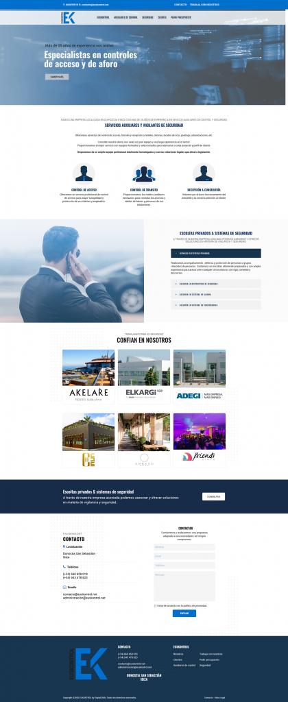 website Euskontrol | DIGITAL CHILLS Diseño & Marketing Digita